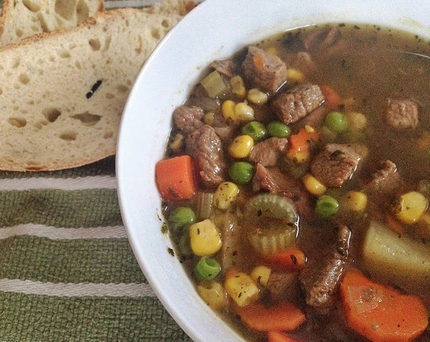 how to cook vegetable beef soup
