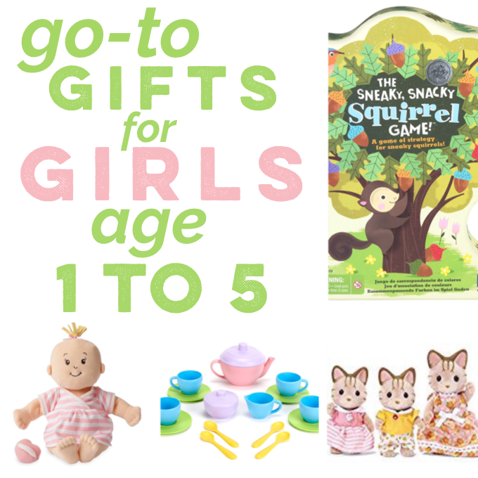 a gift guide for girls age 1-5 with my go-to gifts - things my own girls have and love!