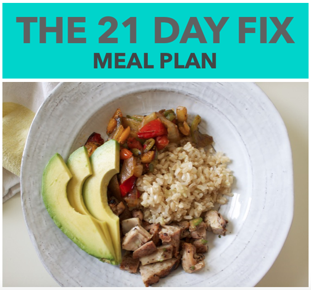 21 day fix meal plan cover